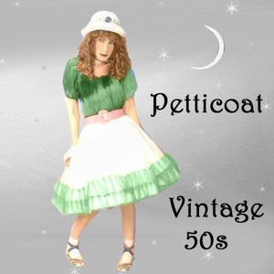 Vintage Lolita Circle Petticoat goes to PLUS SIZE